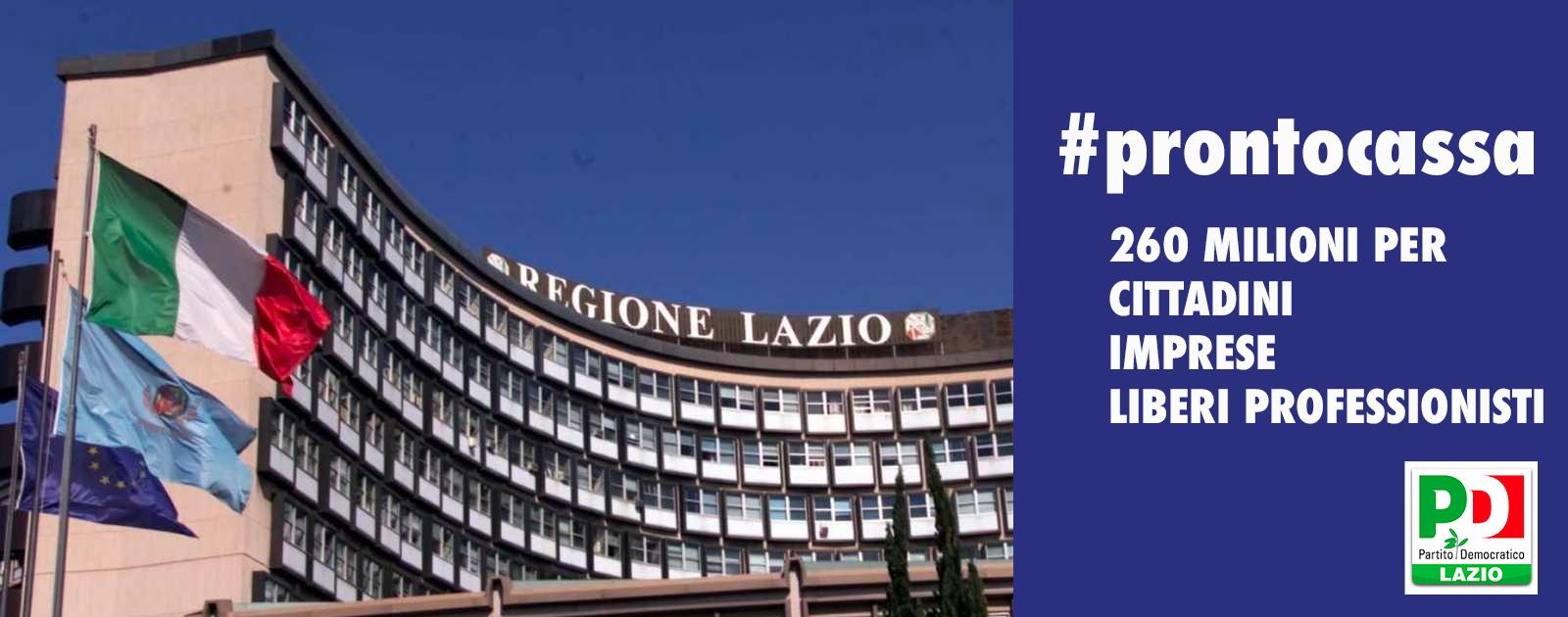 La Regione Lazio al fianco dei cittadini, delle imprese e dei liberi professionisti